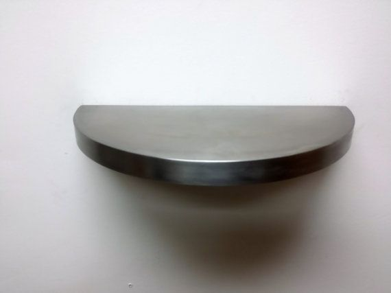 Round Stainless Steel Shelf Floating Shelf Wall By