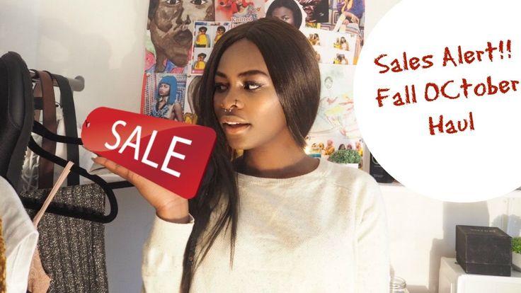 Sales Alert!!! Fall October Haul || Topshop | H&M | Pull & Bear| Zara| P...