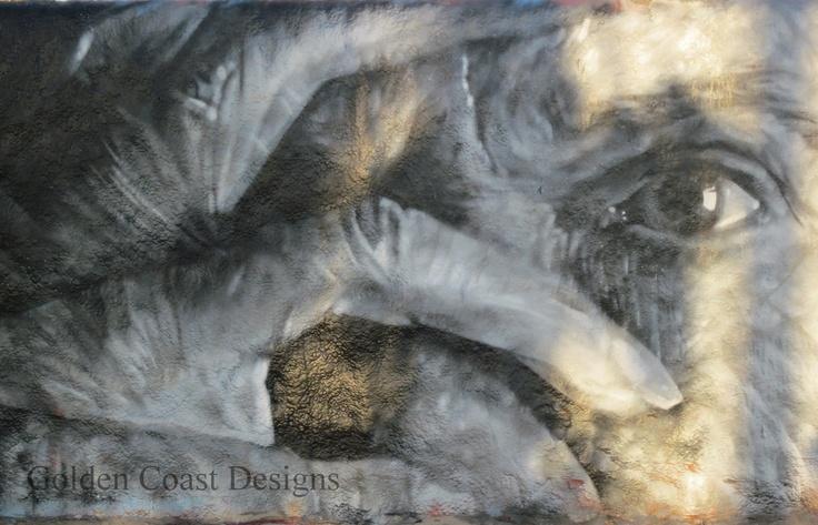 Photograph Printed on Glass Graffiti Eye's Street  Art Black, White, Gray Venice Beach Black White & Gray. $62.00, via Etsy.