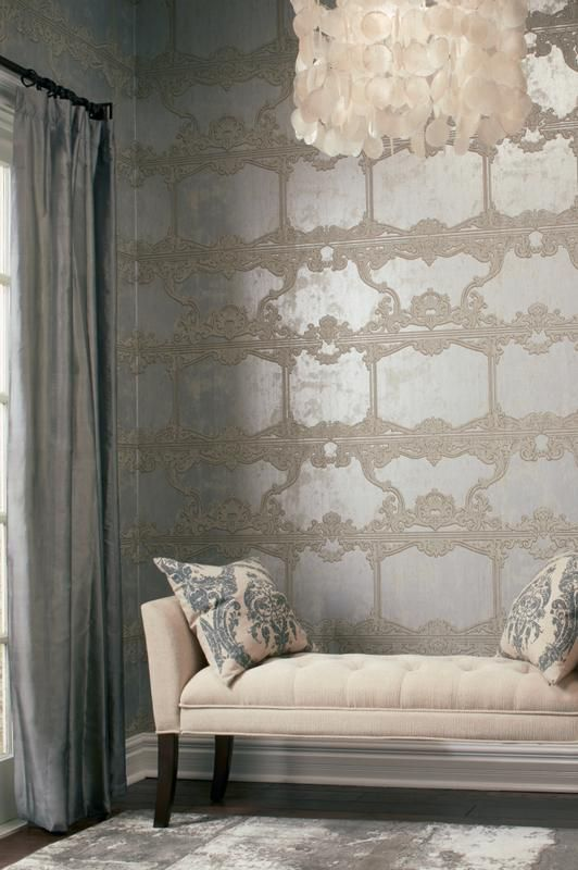 Jannelli e Volpi | Fashion | Metallic wallpaper, Designer wallpaper ...