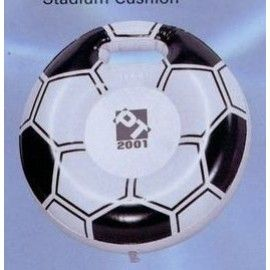 Inflatable Soccer Shape Stadium Cushion w/ Handle / 15""