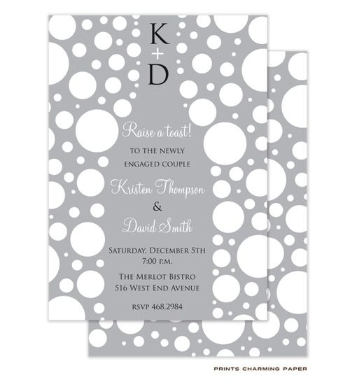 Prints Charming Paper | Engagement Parties | Champagne Bubbles Invitation (P.Charming) | The PrintsWell Store