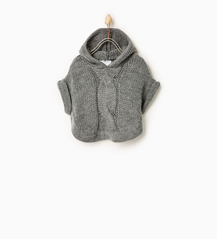 Hooded poncho-SWEATERS AND CARDIGANS-Baby girl-Baby | 3 months - 3 years-KIDS | ZARA United States