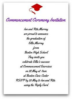 ceremony invitation party s pinterest graduation invitations