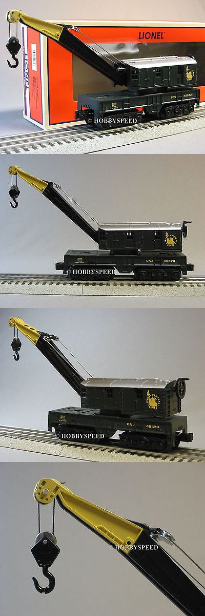 Other O Scale 485: Lionel Central New Jersey Crane Car 48673 Hoist 6-81023 O Gauge Train 6-81046 -> BUY IT NOW ONLY: $79.84 on eBay!