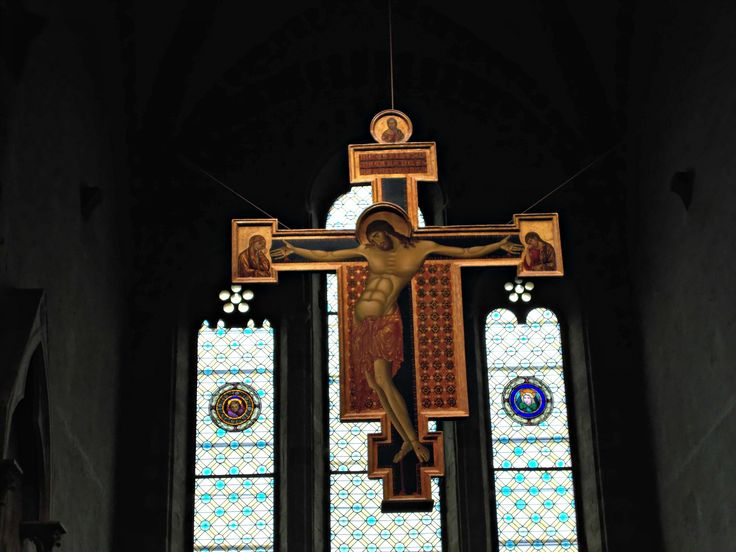 Crocifisso di Cimabue, chiesa di San Domenico, Arezzo - Italia