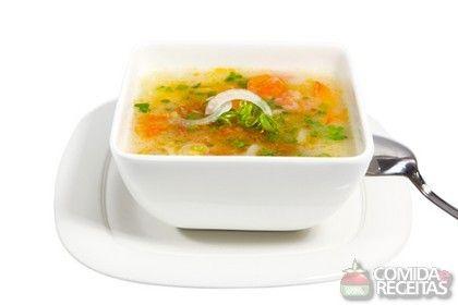 Receita de Sopa de caranguejo - Comida e Receitas