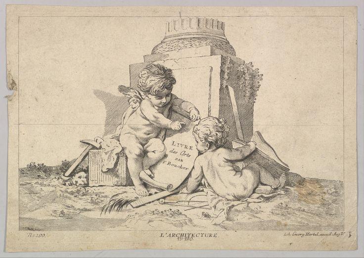 Johann Georg Hertel (German, Augsburg 18th century) -  After François Boucher (French, Paris 1703–1770 Paris) - Etching and Engraving.