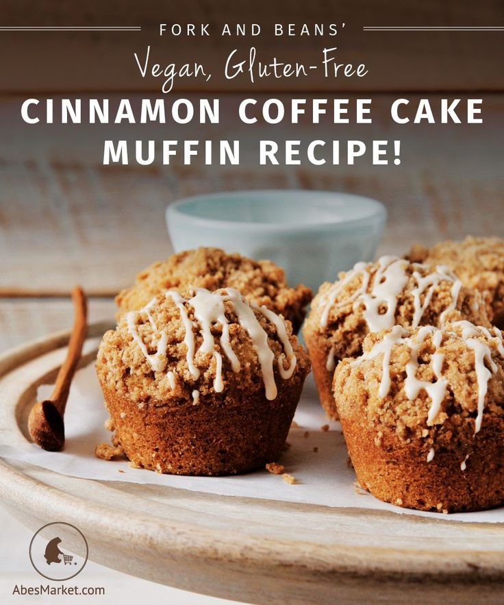 Vegan, Gluten-free Cinnamon Coffee Cake Muffin Recipe from Decadent Gluten-Free Vegan Baking