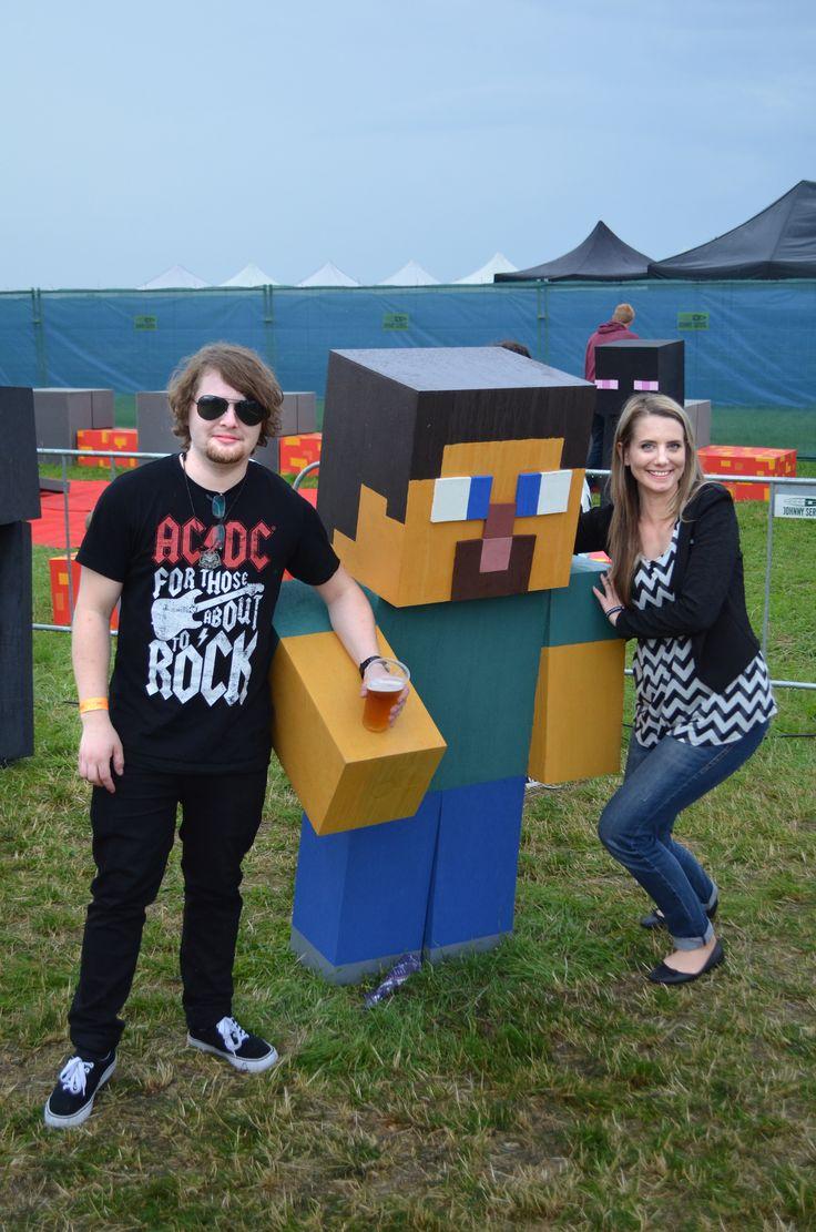 S Martinem a Stevem :D Ty Minecraft postavy byly fakt geniální!