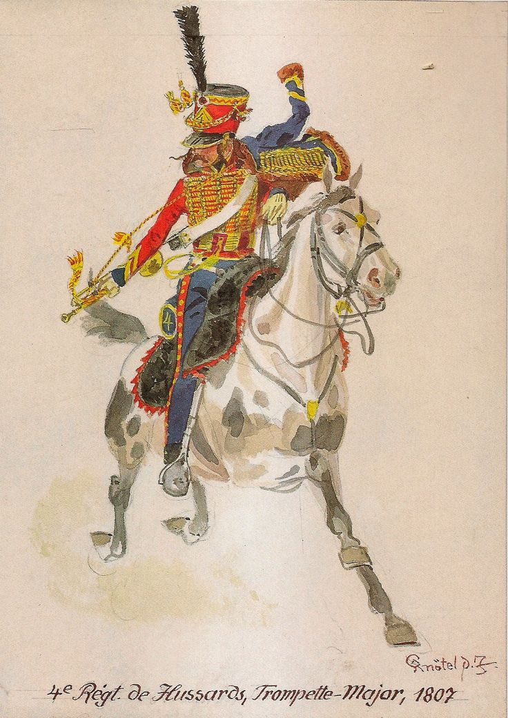 French; 4th Hussars, Trumpet-Major, 1807