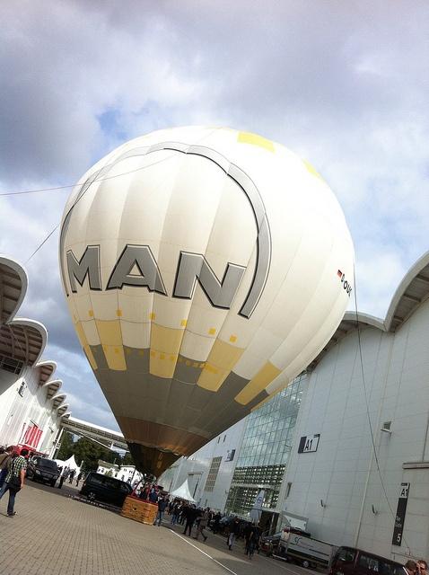 Hot air balloon at the SMM fair in Hamburg by MAN|PrimeServ, via Flickr