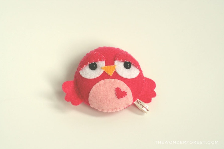 Pink Stuffed Bird Toys