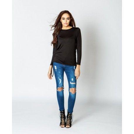 Langærmet bluse fra Stylewear! Køb denne lækre bluse til kun 175,- på Stylewear.dk