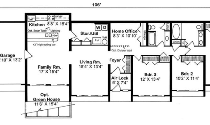 Best 25 earth sheltered homes ideas on pinterest earth for Earth contact homes floor plans