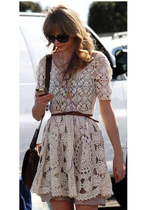 Taylor Swift vintage cute handcrafted crochet mini by DearAlina, $249.00