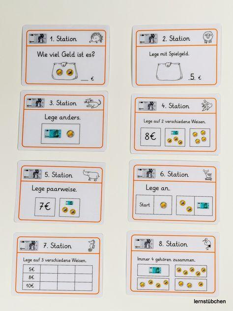 hier eine Vorschau auf die Stationskarten zum Geld im ZR bis 10 € Im Laufe des… – Bianca Berendes