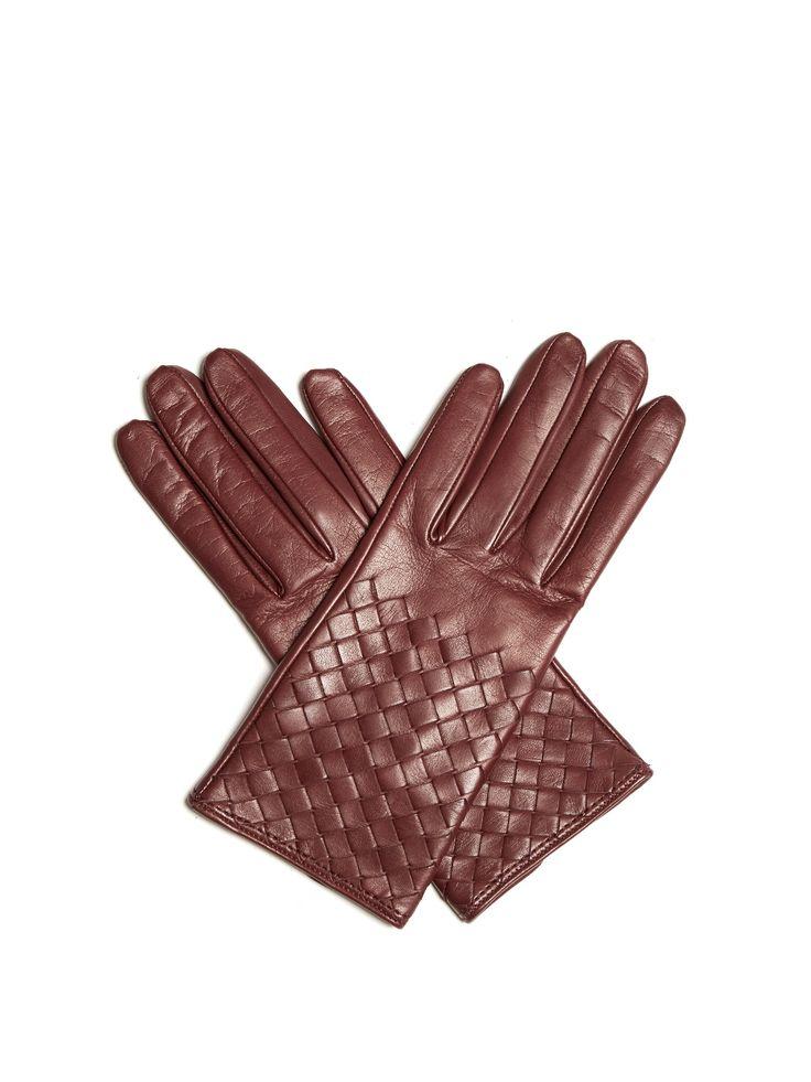 Intrecciato-leather gloves | Bottega Veneta