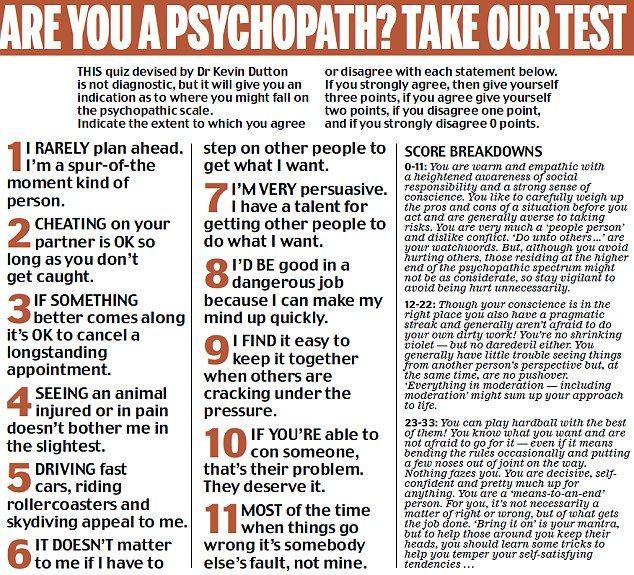 dark triad personality test pdf