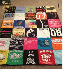 DIY tshirt blanket. Plan to use for my race tshirts (the ones that I don't like or are too worn out to wear anymore).