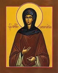 Feast of: Saint Athanasia of Aegina ( 790 – 860) Athanasia was the daughter of Christian nobles, Niketas and Irene, and experienced a mystical union of a star merging with her heart while weaving at the loom when she was a young girl. She wanted a spiritual ...(Read the rest of the story here:) https://www.facebook.com/St.Eugene.OMI/?ref=settings