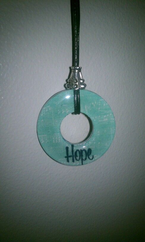 """hope"" washer necklace"