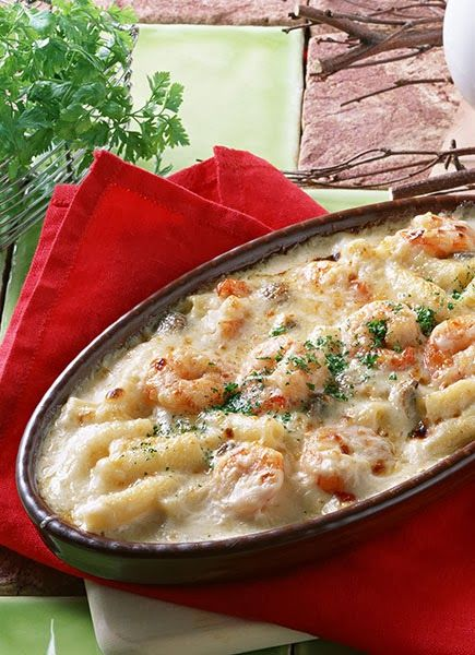 Shrimp Pasta Casserole. For those nights when you're craving something cheesy and wonderful for #dinner!