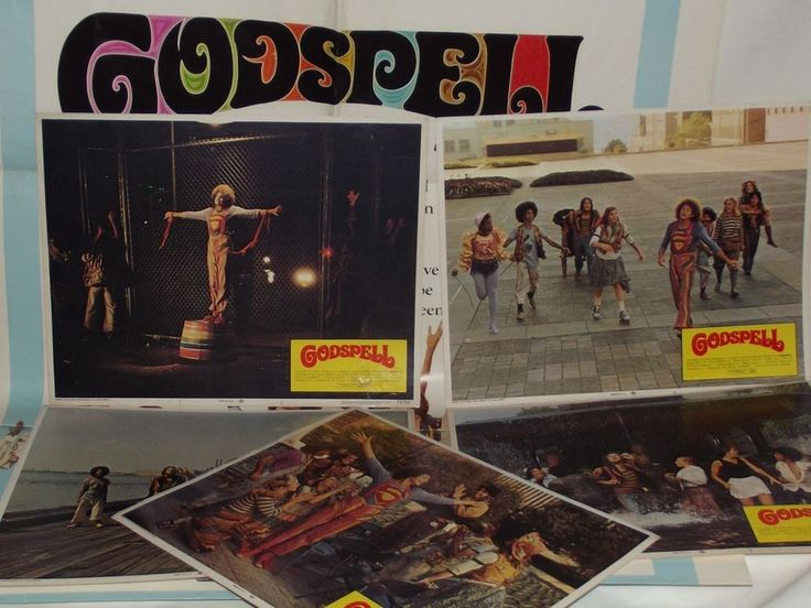 Godspell - 5 11 x 13 3/4 Lobby Cards and  27 x 40 poster 1973  73/51  BID NOW!