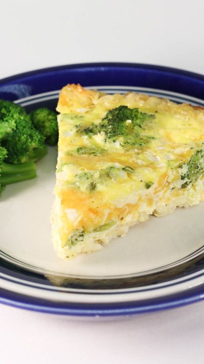 Lightened Up Broccoli Cheddar Quiche
