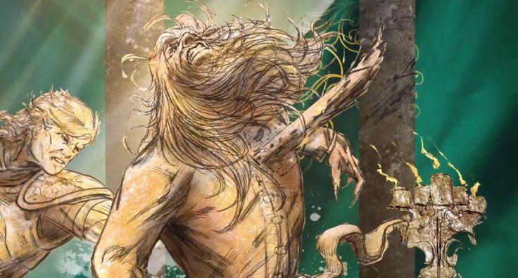 """Jamie Lanester """"Kingslayer"""" slaying the mad king Aerys II Targaryen at the sack of Kings Landing."""