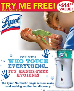 Lysol Hand Soap System Free with Mail-In Rebate  http://womenfreebies.ca/free-samples/lysol-no-touch-mail-in-rebate/