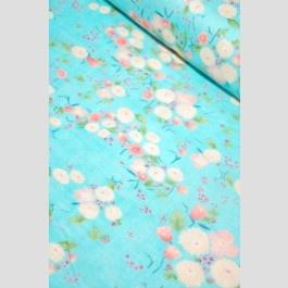 Little Letters - Aqua Peach - Double Gauze - Nani Iro by Naomi Ito for Kokka Japan