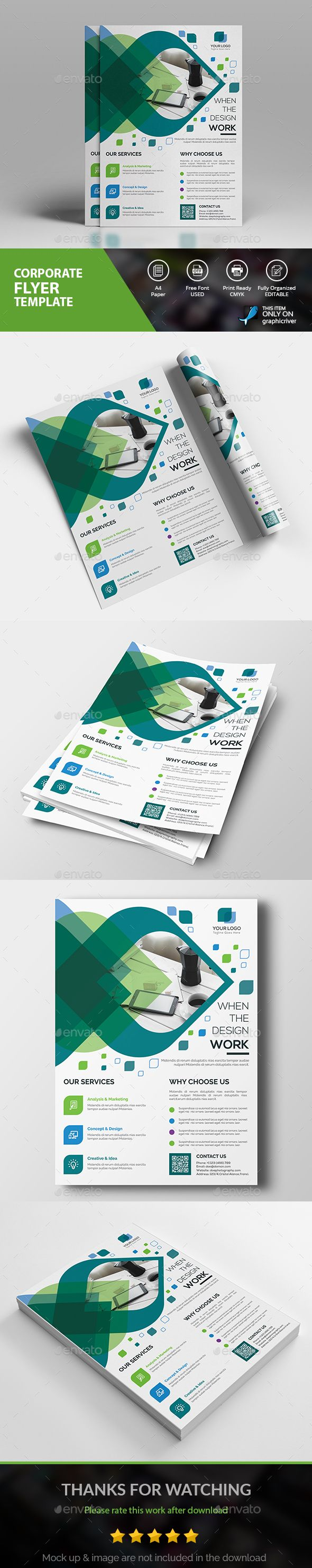 Creative Flyer — AI Illustrator #clean design #corporate new flyer • Download ➝ https://graphicriver.net/item/creative-flyer/18864743?ref=pxcr