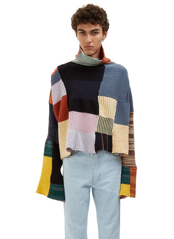 Eckhaus Latta Coverlet Oversized Patch Sweater | LN-CC