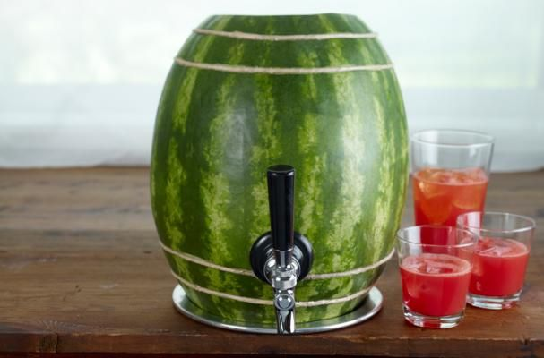 Watermelon keg filled with your favorite summertime cocktail!      I LOVE WATERMELON!!    http://watermelon.org/Carvings/Watermelon-Keg-71.aspx
