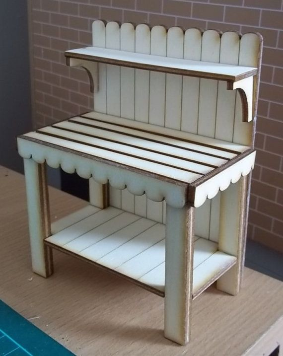 Potting Bench Kit Easy - Moderate kit to assemble. In bare wood ready for you to complete your own finish Finished Measurements. 12cm high x