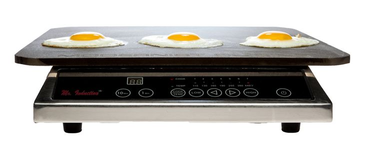 on induction burner with fried eggs or no induction pans! Yes please