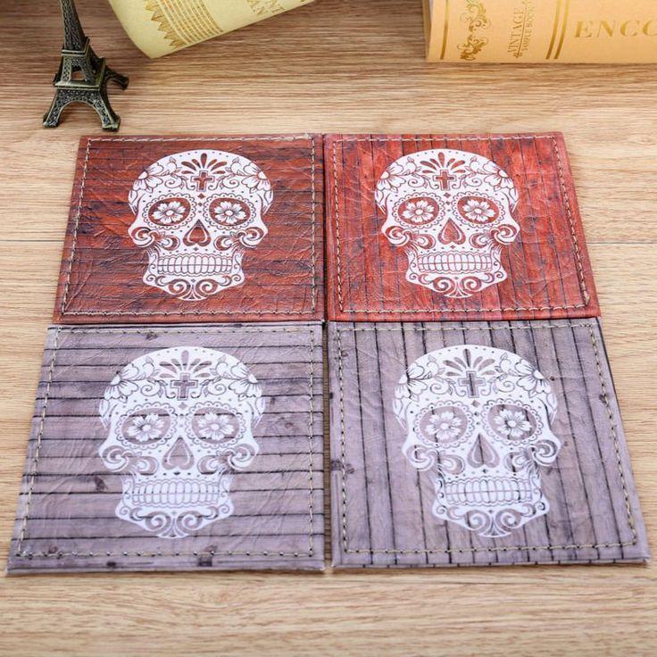Set of 4 10cmx10cm Sugar Skull Coasters