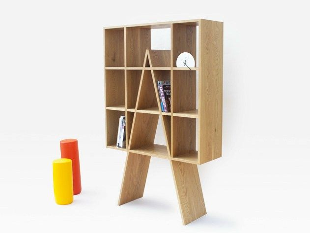 Librería abierta independiente doble cara de roble LADDER WINDOW by THELERMONT HUPTON