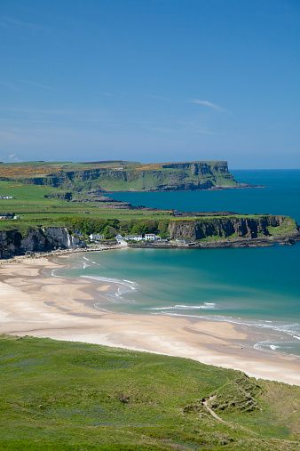 The beautiful beach of White Park Bay, N. Ireland.                                                                                                                                                                                 More