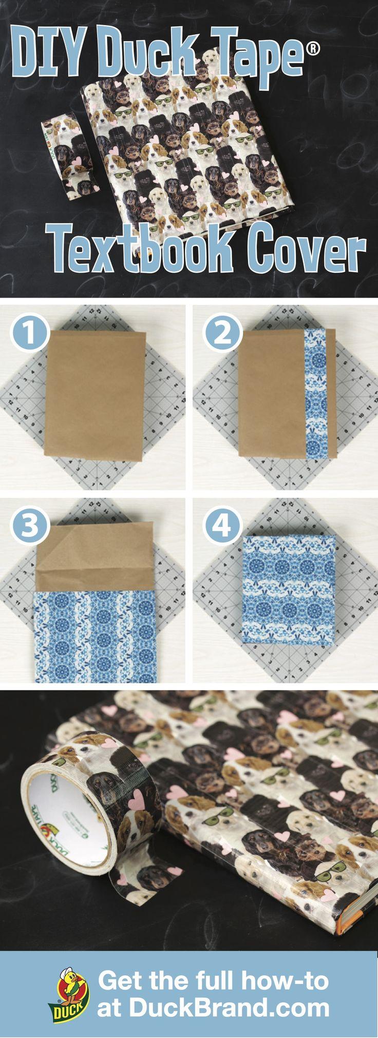 Erfahren Sie, wie Sie DIY-Lehrbuchumschläge mit Klebeband herstellen.   – School | Duct Tape Crafts