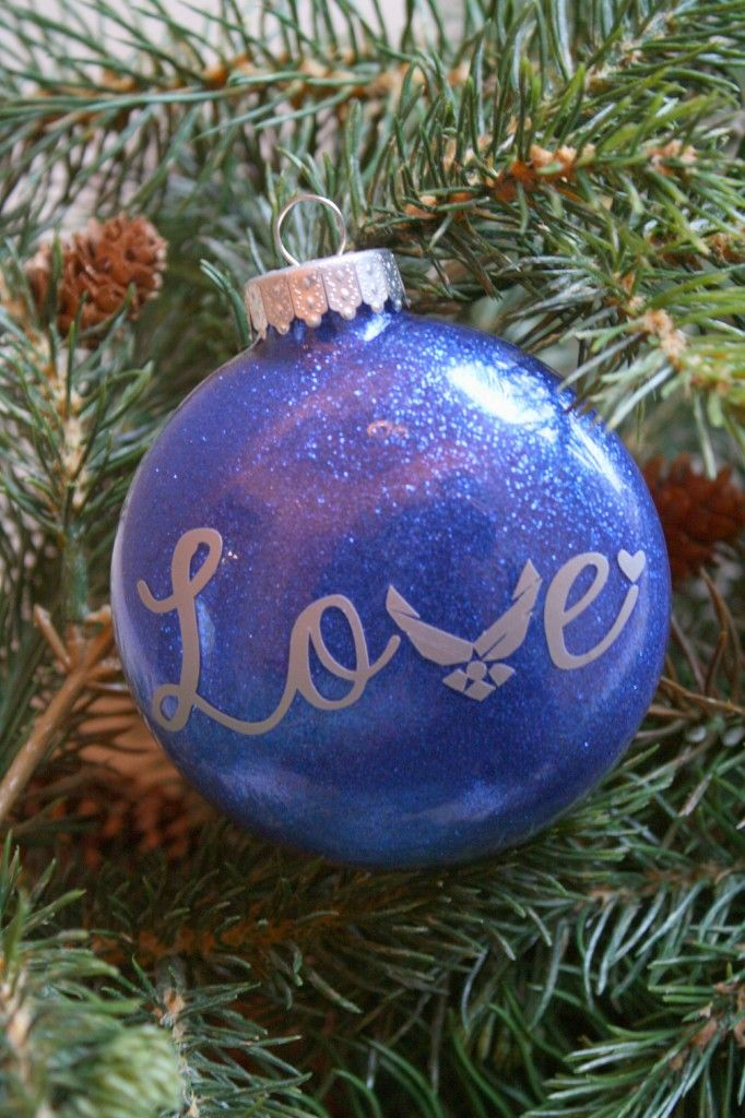 Air Force Ornaments www.adiamondinthestuff.com