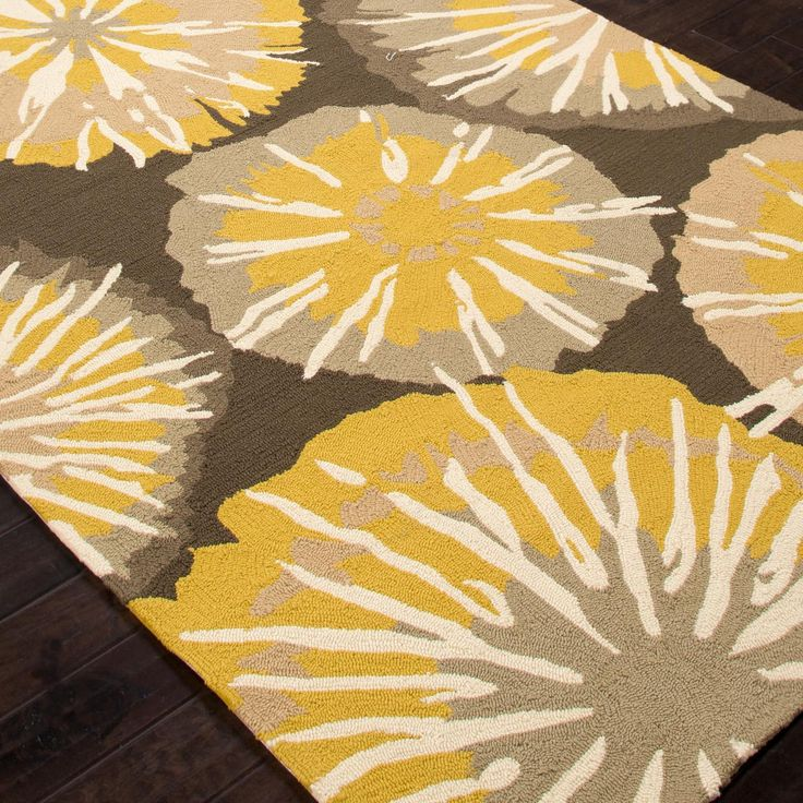 Best Indoor Outdoor Rug In Yellow And Brown Colors