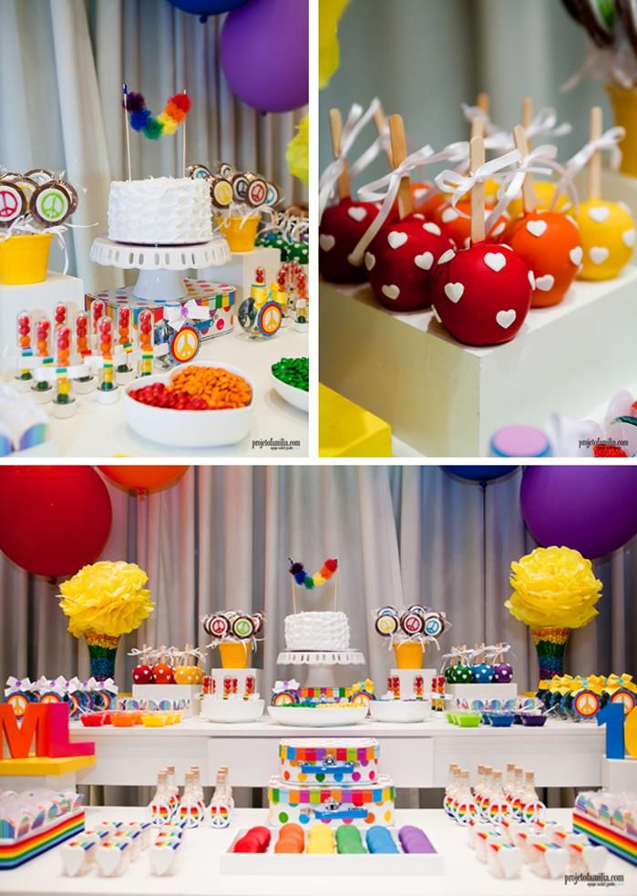 Rainbow Party with So Many Cute deas via Kara's Party Ideas | KarasPartyIdeas.com #RainbowParty #Party #Ideas #Supplies