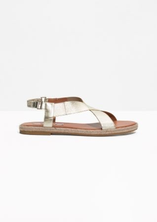 Metallic Espadrille Sandals (also come in black) | & Other Stories
