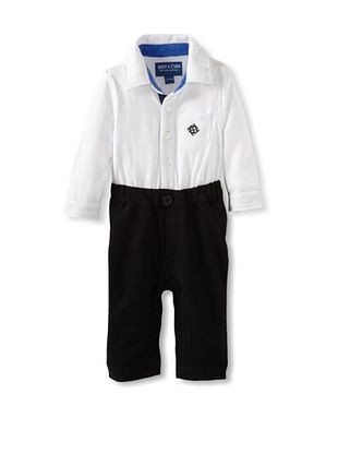 71% OFF Andy & Evan Baby-Boys Infant My 1st Andy & Evan Playsuit (White/Black)