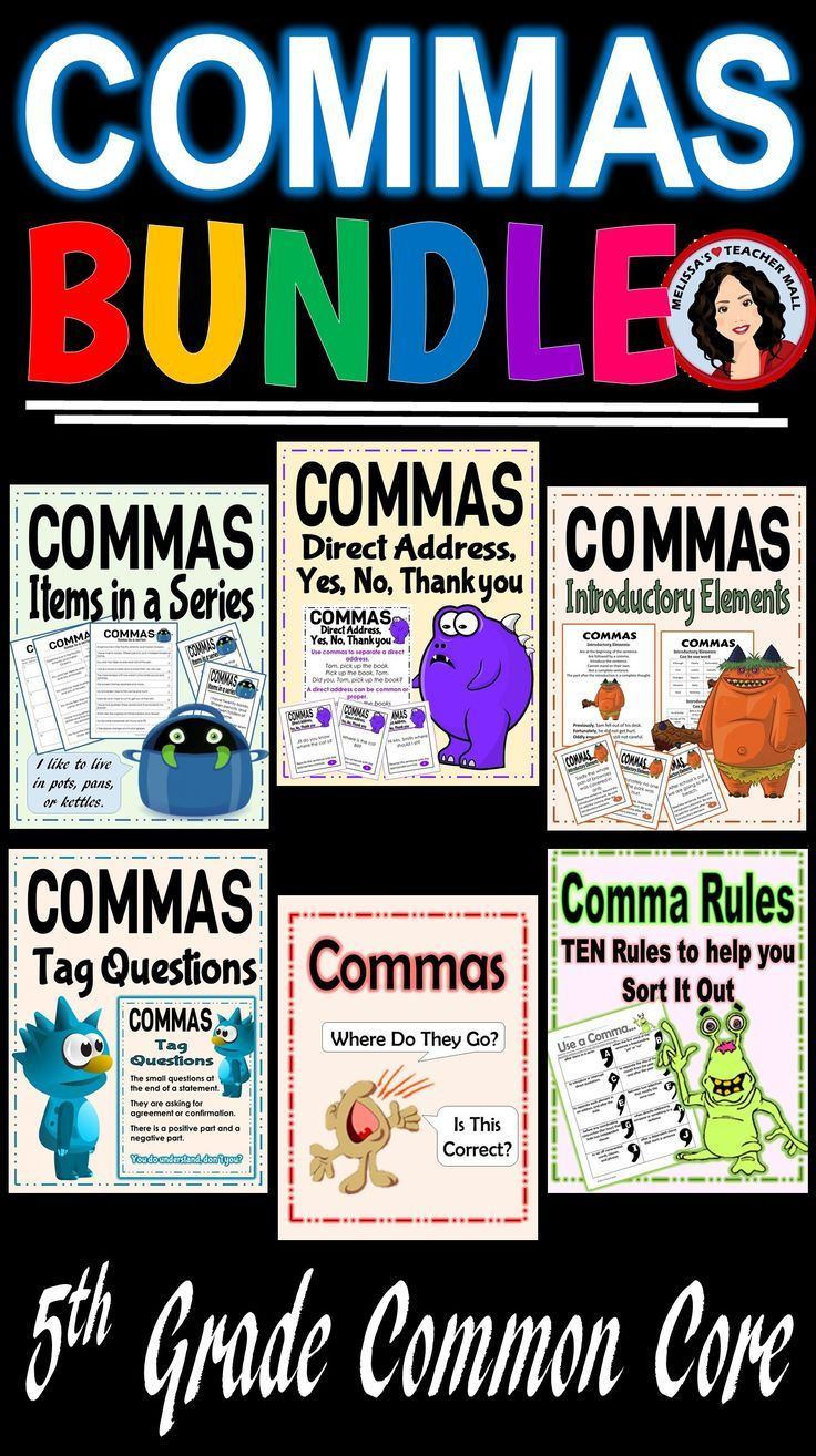 The rules of when to apply a comma for the fifth grade standards can be overwhelming. This bundle breaks down the rules and provides lots of practice. Review the rules and practice adding comma to Items in a Series, Direct Address, Tag Questions, and Introductory Elements.