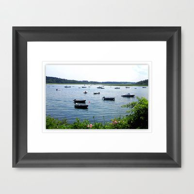HARBOR BOATS Framed Art Print by Diane Perkins Photography - $33.00