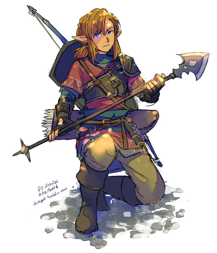 "Zelda Character Design Breath Of The Wild : Dc spot "" new trailer looking good … i have to draw his"