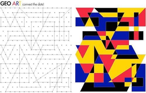 Kunst mit Geometrie, Geometrie, Kunst, kreativ, Kinder, Wahrnehmung, linktipp1